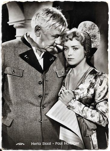 Herta Staal and Paul Hörbiger in Die Winzerin von Langenlois (1957)