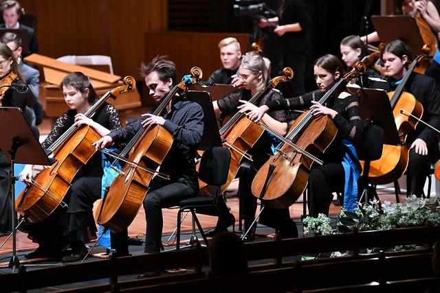 16.10.2020. Valsts prezidents Egils Levits apmeklē Emīla Dārziņa vidusskolas 75 gadu jubilejas koncertu