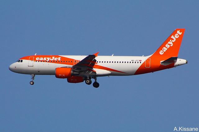 EASYJET A320 HB-JZZ