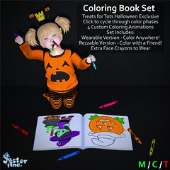 Presenting the new Halloween Coloring Book from Jester Inc.