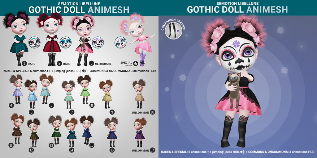 SEmotion Libellune Gothic Girl Animesh