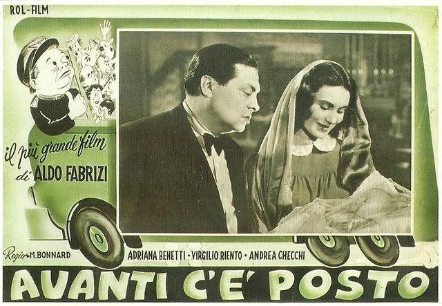 Aldo Fabrizi and Adriana Benetti in Avanti c'é posto