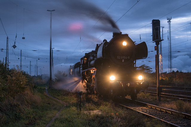 52 8154 EMBB - Eisenbahnmuseum Bayerischer Bahnhof | Mockrehna | Oktober 2020
