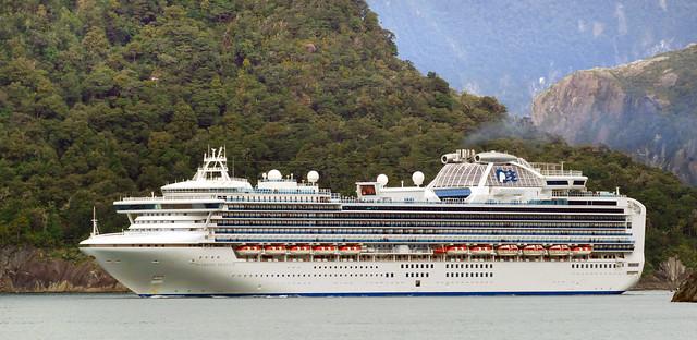 Diamond Princess. Milford Sound NZ