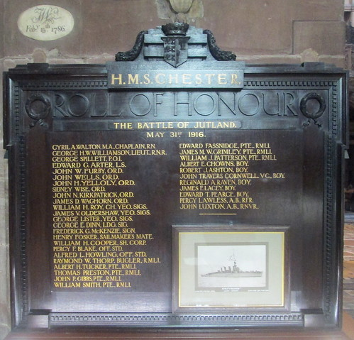 HMS Chester, Battle of Jutland Memorial