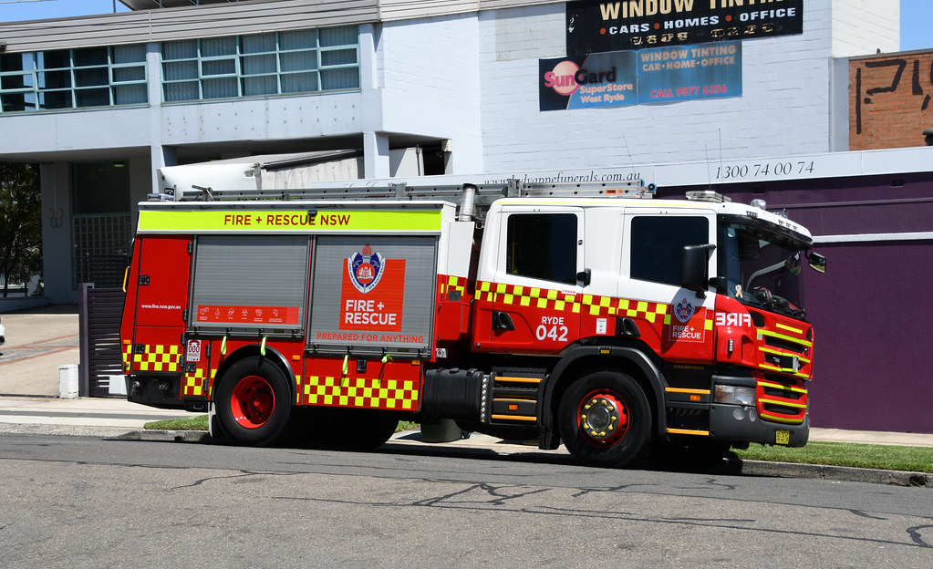 Fire Engine, West Ryde, Sydney, NSW.