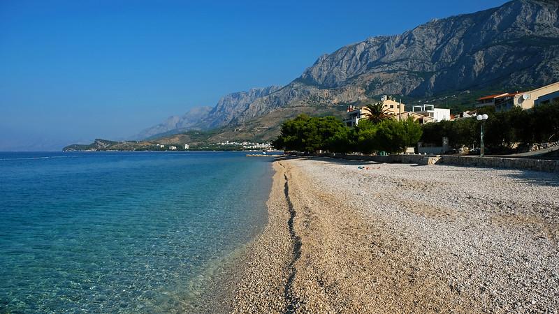 Kamena Beach, Tučepi, Makarska Riviera, Croatia