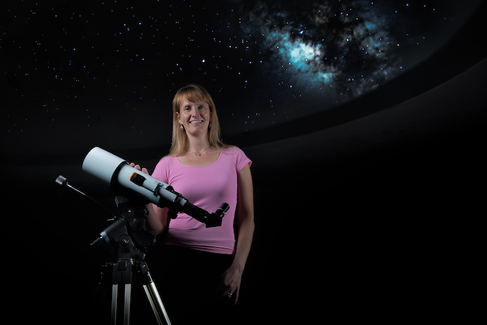 Nicole Lloyd Ronning at the Los Alamos Nature Center planetarium