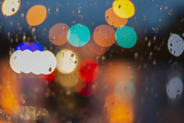 Rain rain go away; bokeh light art