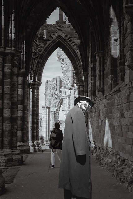Plague Doctor in Whitby Abbey (5k)