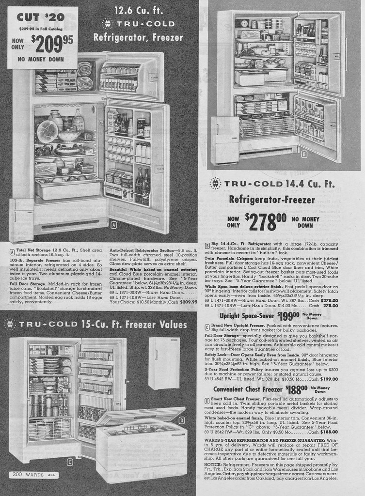 Montgomery Wards Winter Catalog, Tru-Cold 1962