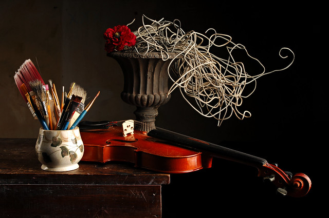 Brushes and Violin