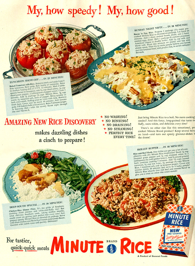 Minute Rice 1950