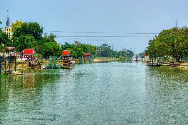 Chao Phraya river near Bang Pa-In in Ayutthaya province, Thailand