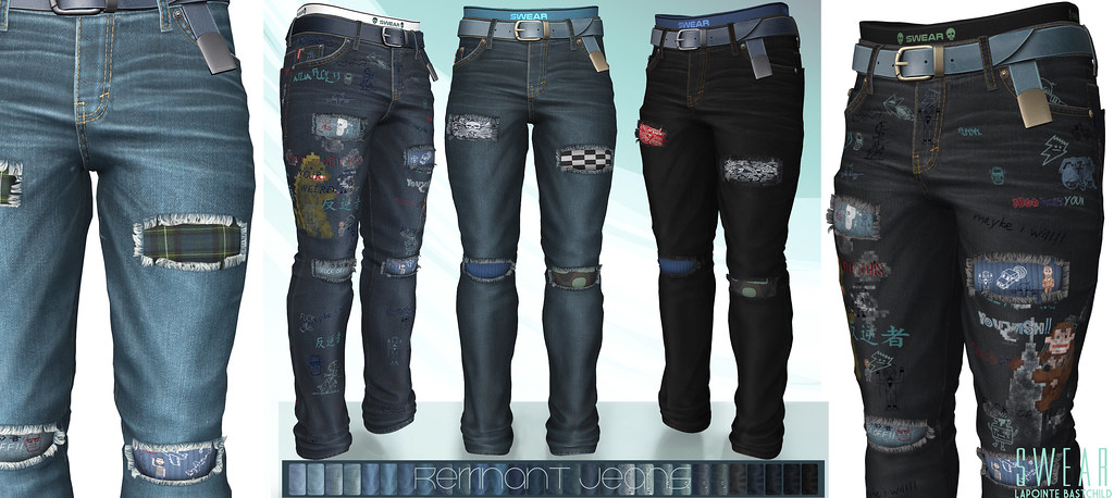L&B@ Man Cave Oct 2020 – Swear Remnant Ripped Jeans