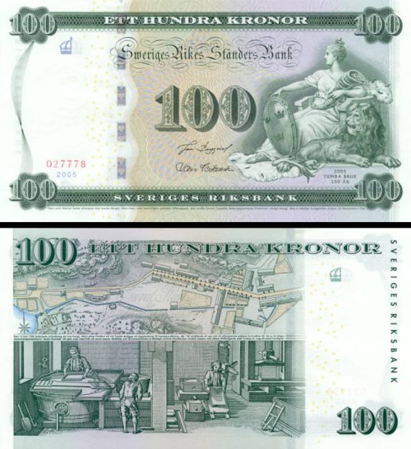 100 Korún Švédsko 2005 P65