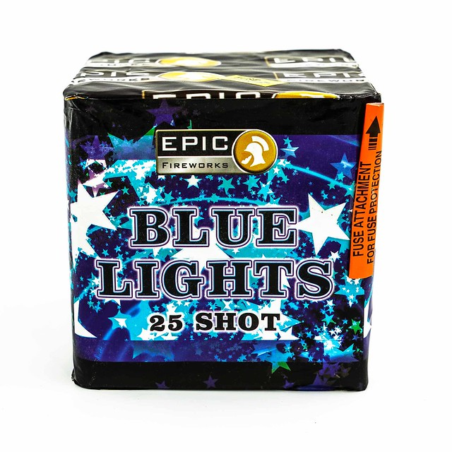 BLUE LIGHTS 25 SHOTS CAKE