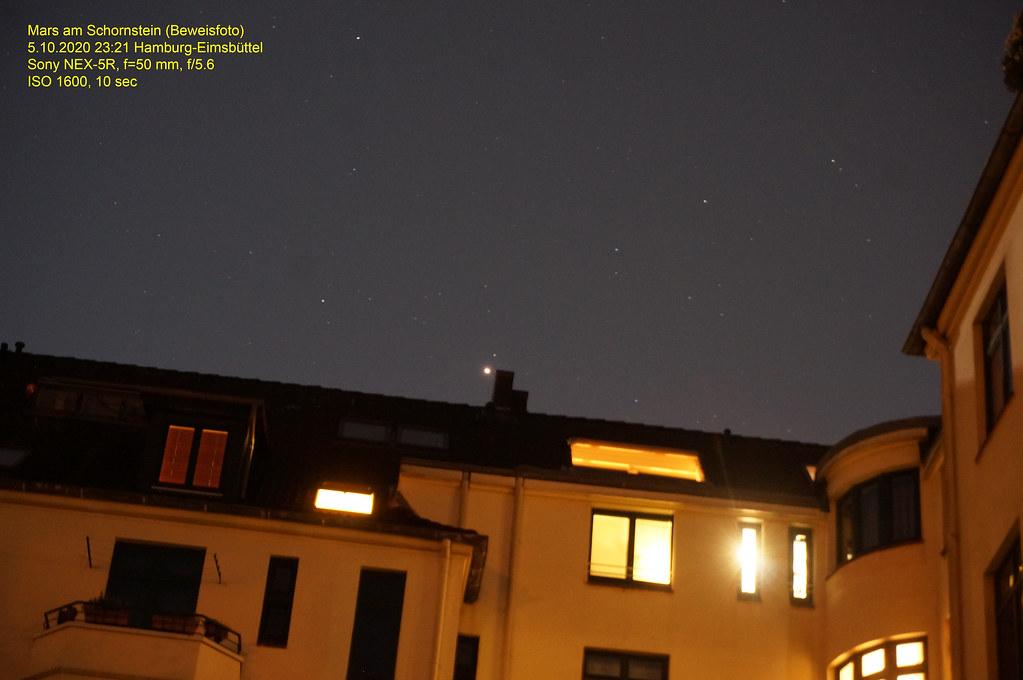 Mars am Schornstein (Beweisfoto)