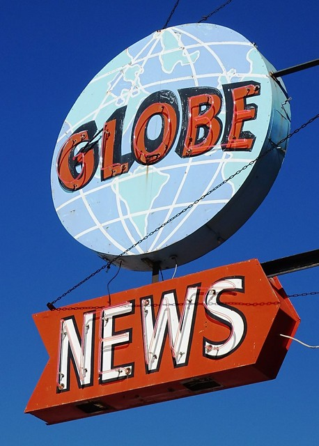 WI, Superior-U.S. 2 Globe News Neon Sign