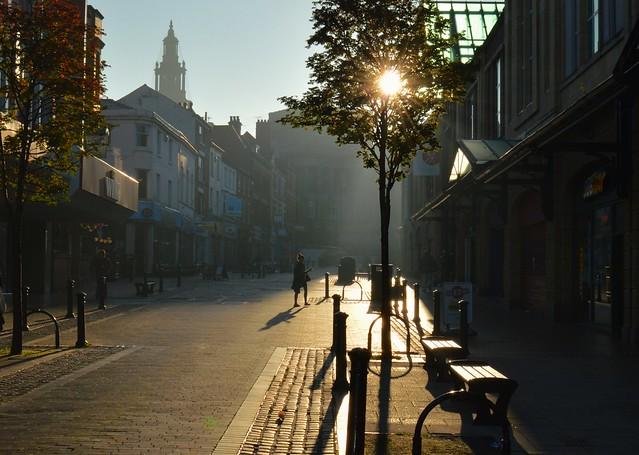 Morning Sun over Friargate in Preston, Lancashire
