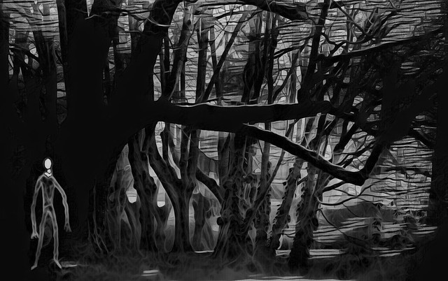 Slenderman in the woods