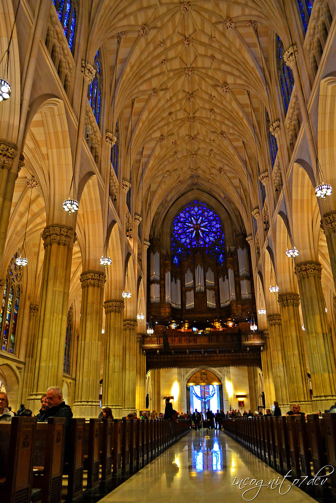 Inside St. Patrick's Cathedral Midtown Manhattan New York City NY P00683 DSC_1136