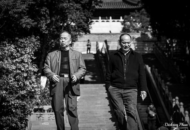 Two elderly men at Leifong Pagoda