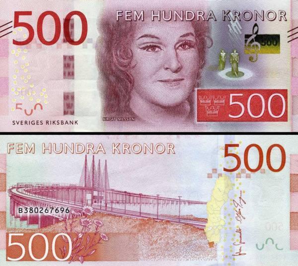 500 Korún Švédsko 2016 P73