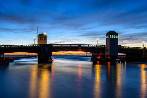 belmarnewjersey newjersey jerseyshore bridge sunrise longexposure