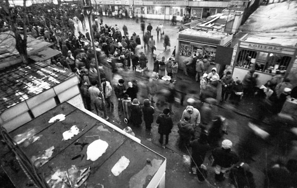 1992. Блошиный рынок в Выхино