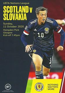 Scotland v Slovakia 20201011