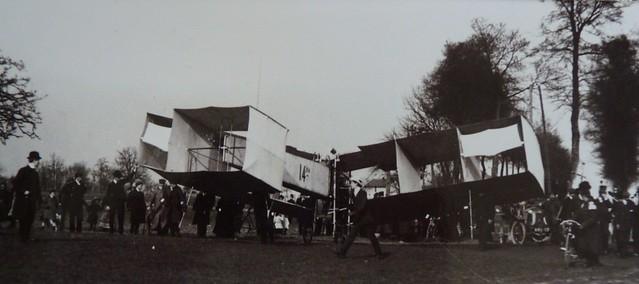 Santos-Dumont à Bois d'Arcy 14bis foule