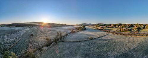 dji mavic air 2 sweden morning sunrise lindome drone drönare