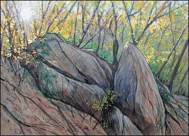 AUTUMNAL FOREST ON THE MOUNTAINSIDE OF CHATYR-DAG (EN-PLEIN-AIR SKETCH)