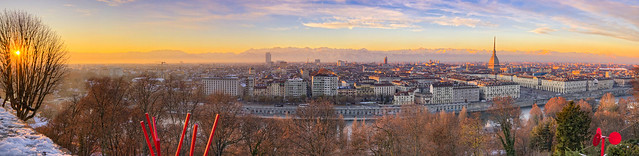 Sunset Over Torino