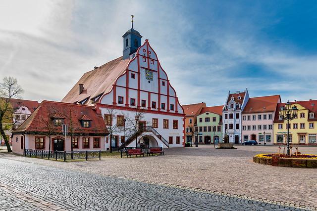 Marktplatz und Rathaus, Grimma