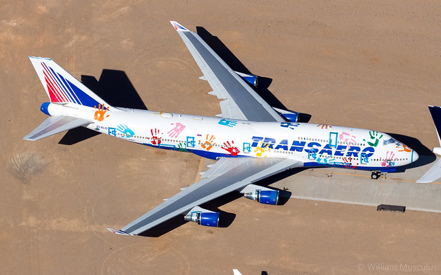 Boeing 747-412 EI-XLO Transaero - Flight of Hope Livery