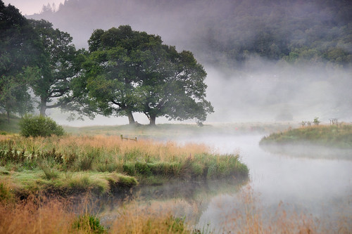 mist fog river still calm serene mellow elterwater riverbrathay morning light summer reflection water sunrise dawn goldenhour stupidoclock dawnraid greatbritain lake landscape nationalpark lakedistrict cumbria lakeland countryside unesco worldheritagesite nisi imagestwiston grad gnd neutraldensity nisifilters mutedtones