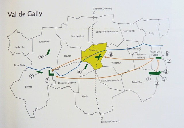 Anciens aérodromes Val-de-Gally plan Chavenay-Villepreux Yvelines aviation