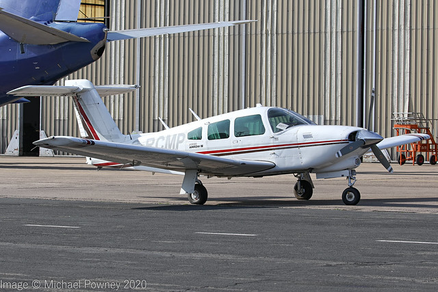 G-RCMP - 1979 build Piper PA-28RT-201T Turbo Arrow IV, visiting East Midlands