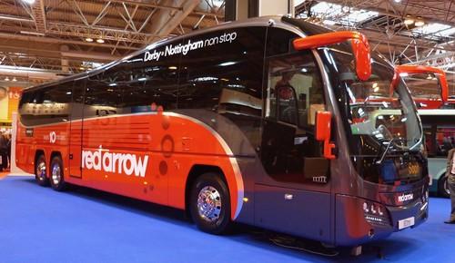 Volvo B11R / Plaxton Elite 'trentbarton' 'red arrow'. on Dennis Basford's railsroadsrunways.blogspot.co.uk'