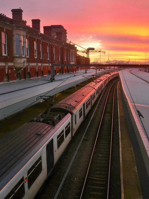 Harwich Parkeston Quay Station Sunrise