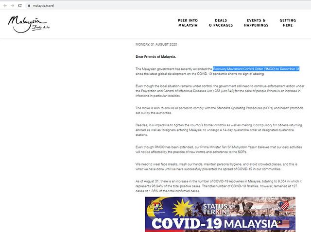 covid 19 tourism malaysia