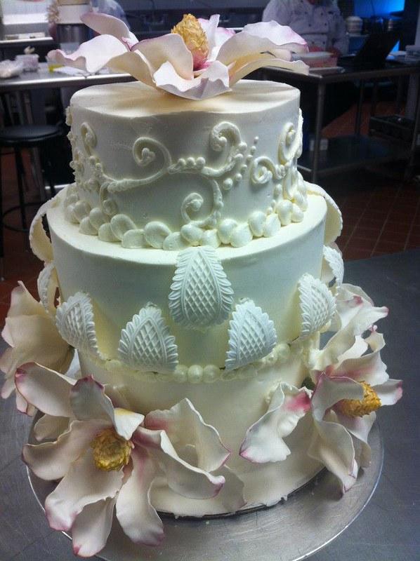 Magnolia Wedding Cake by Good Vibes Bake Shop