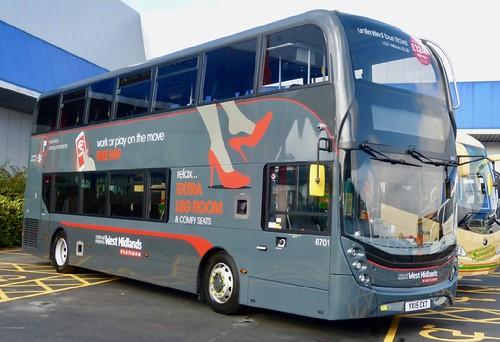 YX15 OXT 'national express West Midlands' No. 6701. Alexander Dennis Ltd. (ADL) E40D / 'ADL' Enviro 400MMC on Dennis Basford's railsroadsrunways.blogspot.co.uk'