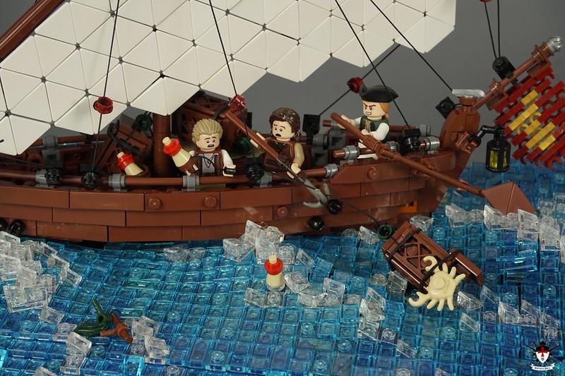 Venice 1486 - Fishing Sailship (detail)