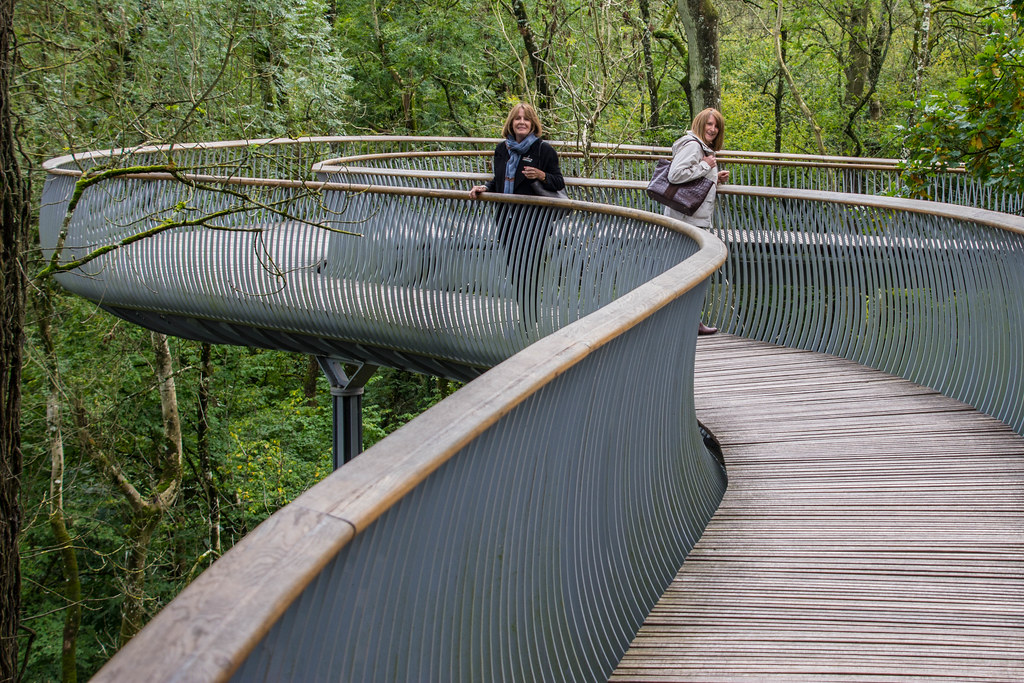 Sue and Jill, the Newt Gardens Walkway, Somerset   Sue and J…   Flickr