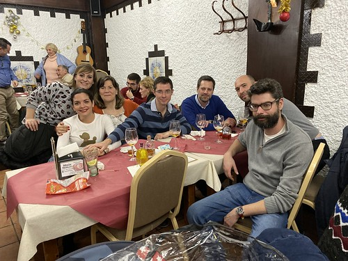 Cena de Navidad con los amigos