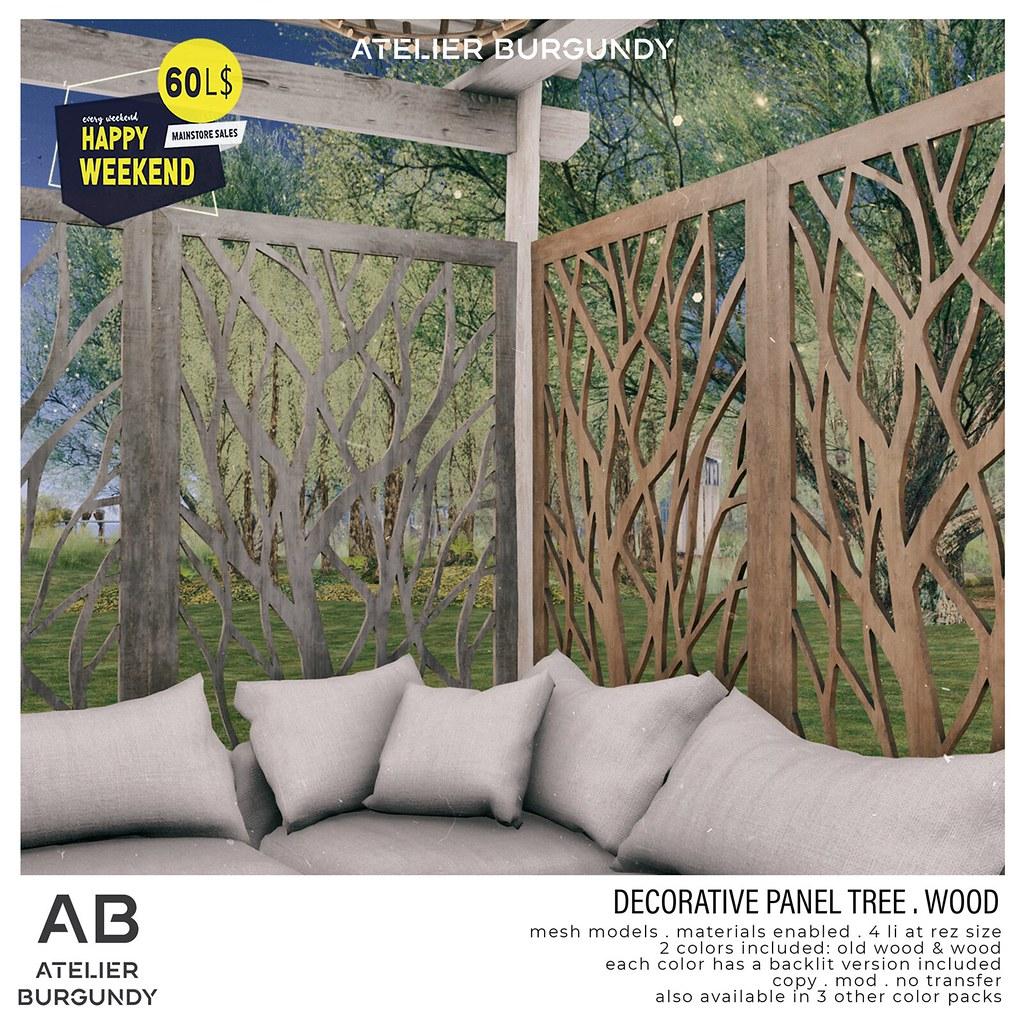 Atelier Burgundy . Decorative Tree Wood