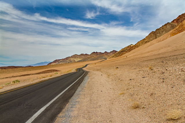 Armchair Traveling - A Long Vanishing Road in Death Valley
